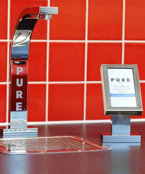 The PURE Water Company Touch Screen Drinks Dispenser