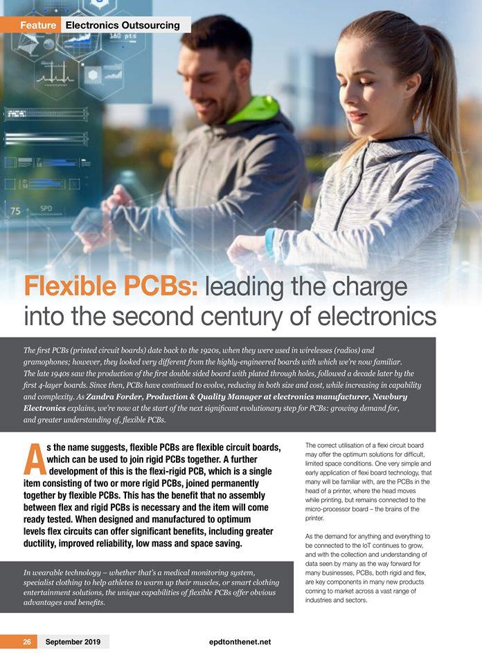 Newbury Electronics featured in EPDT News September 2019
